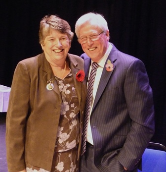 Sue Kendall, County Chairman with John Craven, Guest Speaker