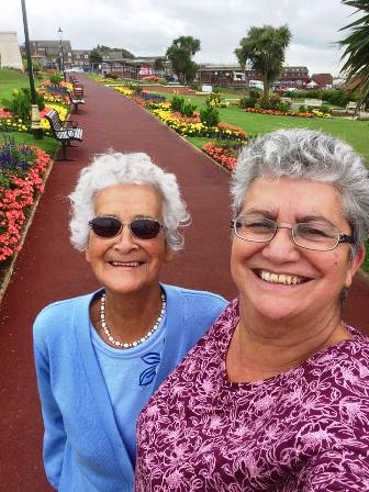 Val with her Mum in Hunstanton