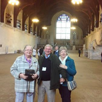 Joan Gerald %26 Julia during visit to Houses of Parliament