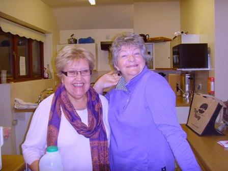 Helen & Julia in kitchen