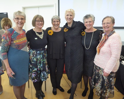 Towcester Evening WI members with Calendar Girls