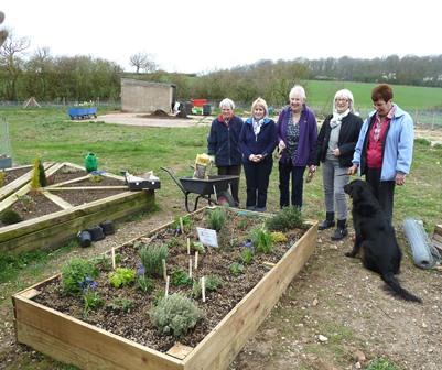 Geddington %26 Newton Herb Garden with members