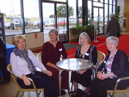 Trustees Barbara, Mary (WI Adviser) Liz and Diana relax after enjoying lunch