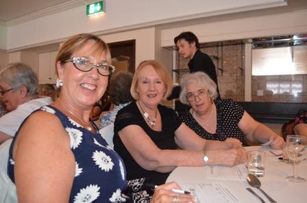 Photo shows Liz Brandow, speaker on Richard III at A Literary Lunch, Flore