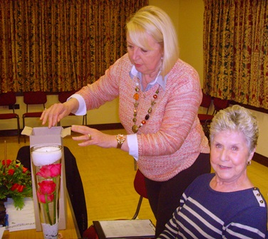 Joan L won the Rose in a Vase in the raffle