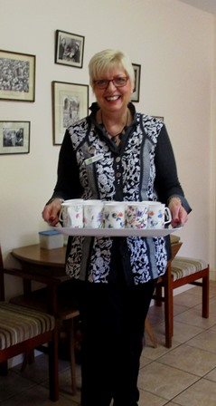 National Chair serving tea