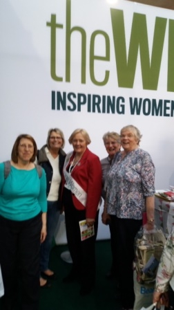 Raunds WI with National Chair Janice Langley