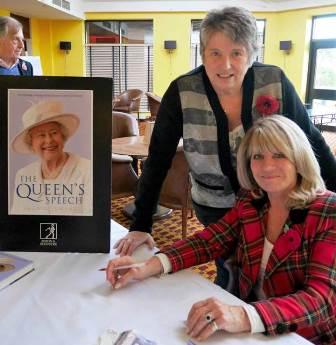 Sue Kendall with author Ingrid Seward