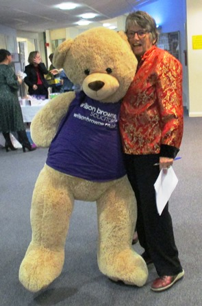 Sue with Wilson Brown bear