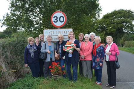 Members of Quinton, Wootton and Roade WIs welcomed the Baton