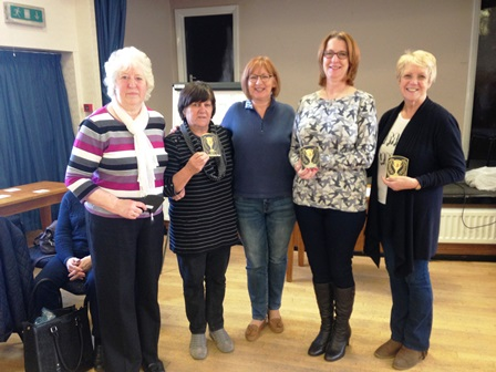 Champions Middleton Cheney WI with Annie Rodwell centre