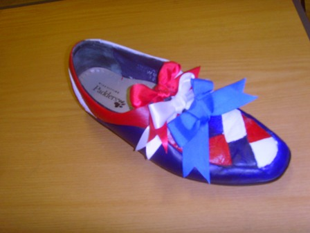 October Winning Entry for Decorated Shoe