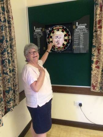 Playing darts