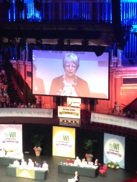 Wendy Dunkley speaking at Royal Albert Hall