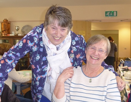 County Chairman Sue with Pat Trede of Towcester Evening WI
